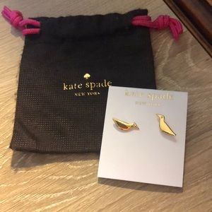 Kate Spade Gold Bird Earrings